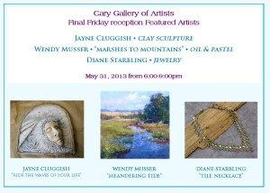 Cary Gallery of Artists Final Friday Reception May 31st @ Cary Gallery of Artists | Cary | North Carolina | United States