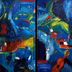 Bright, Big and Abstract by Ron Tutone @ Waverly Artists Group Studio & Gallery | Cary | North Carolina | United States